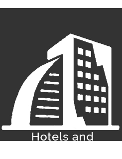 Icon of hotels and shopping centers