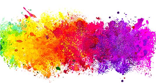 Prskanje različitih boja