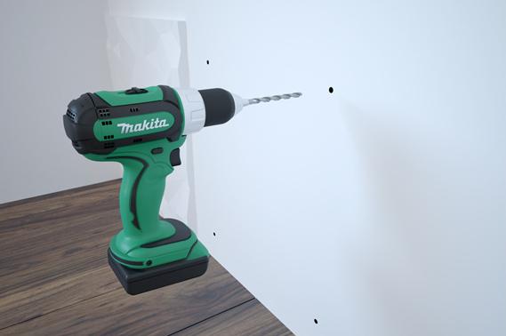Bušilica za instaliranje zidnog panela