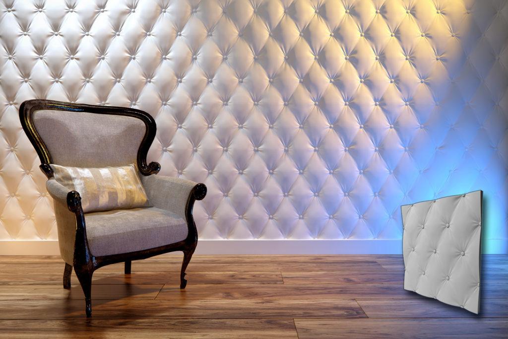 3D zidni panel u oblik tapacirunga