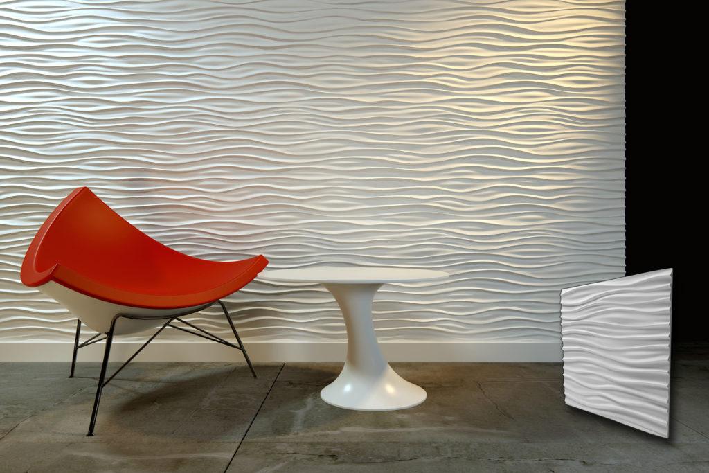 3d zidni panelnu sa motivom dugih valova