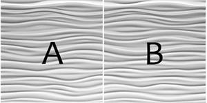 A i B zidni panel sa motivom valova