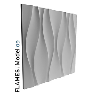 Flames model zidnog interijera