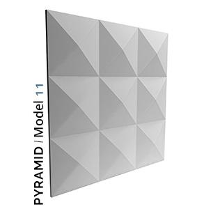 Pyramid model 3D Tiles zidni panel