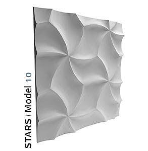 Stars model 3D Tiles zidni panel