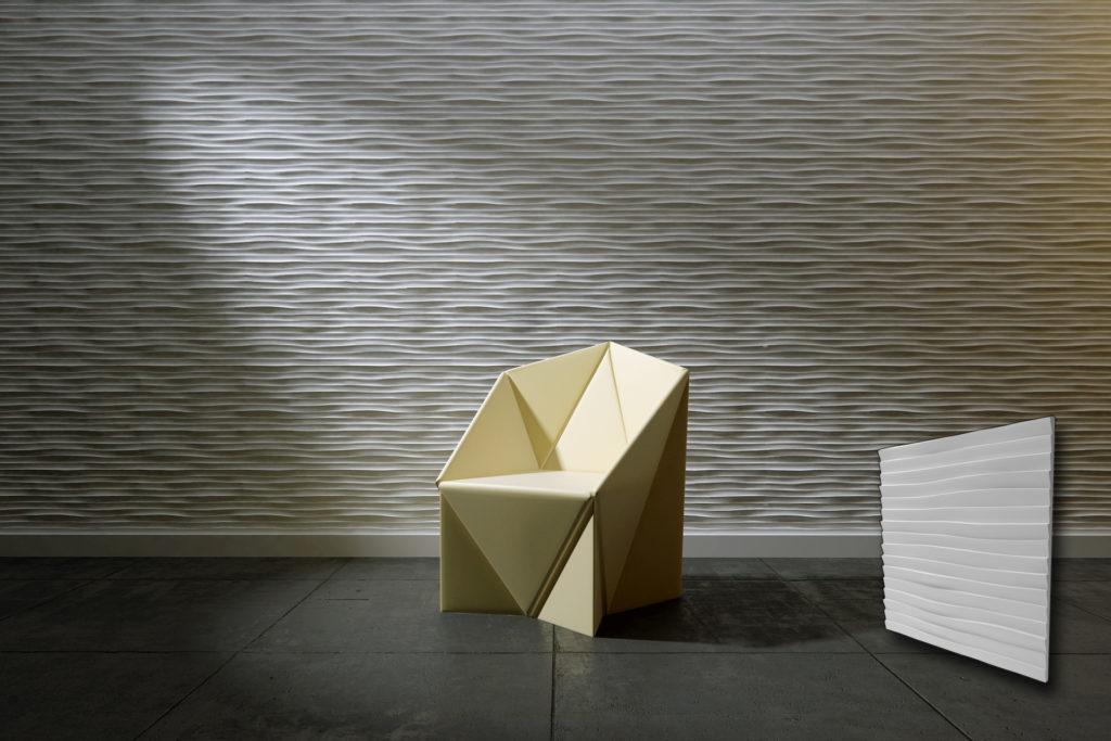 3d zidni panel u obliku pješčanih dina