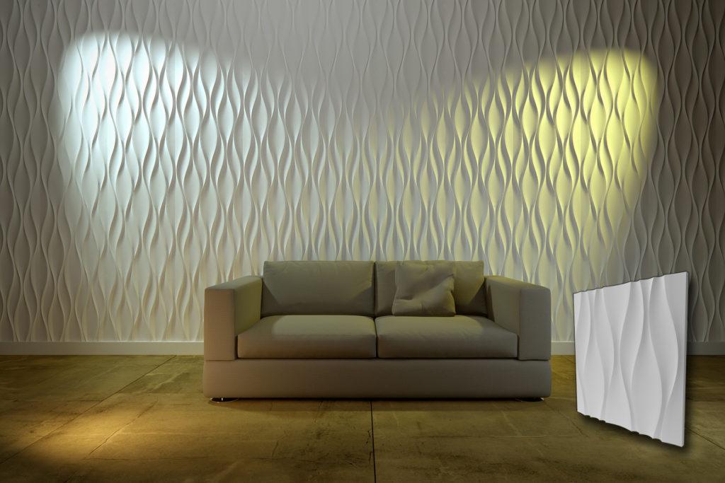 Zidni paneli u obliku valova za dnevne sobe
