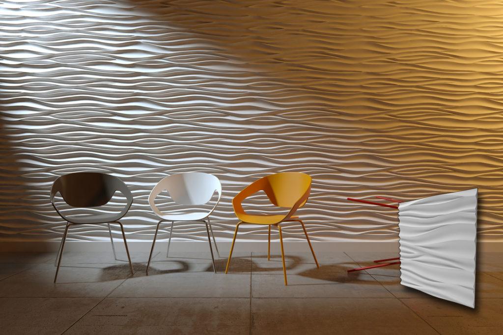 Waves zidni paneli u interijeru