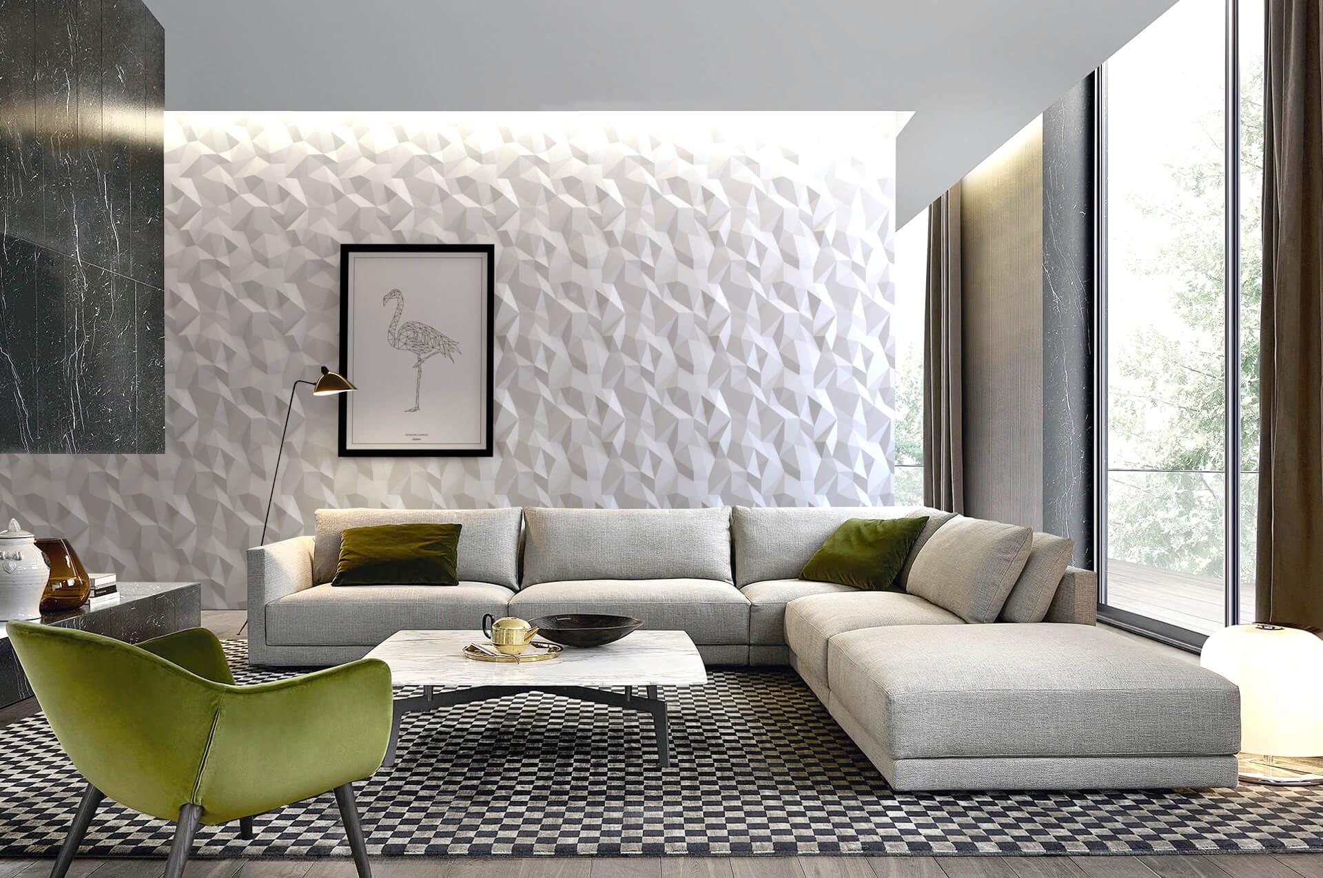 Acoustic 3D decorative wall panels