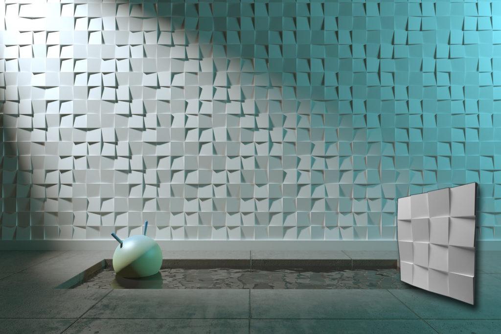 Interier sa Studio Cubes zidnim panelom